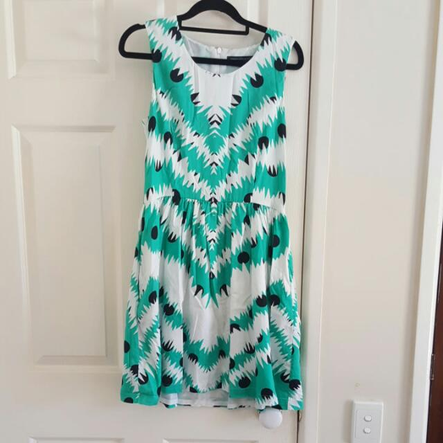 French Connection Aztec Print Dress Size 12