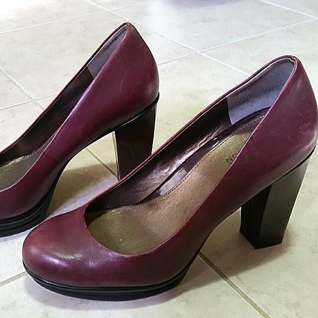 Grape Kenneth Cole Chunky Heels