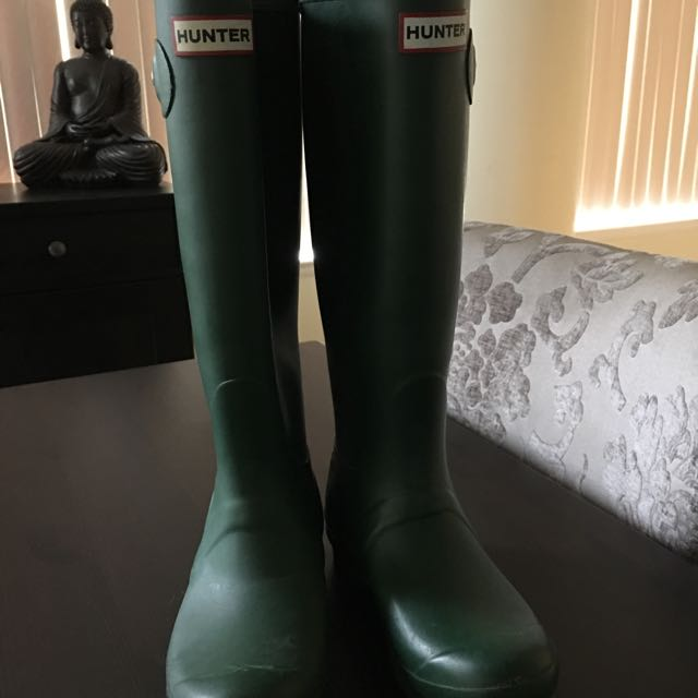 Green Tall Hunter Boots