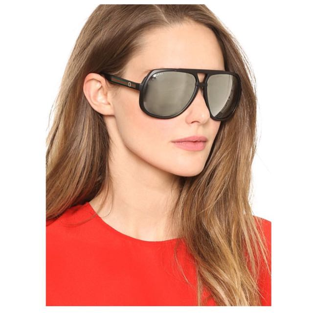 6ae977d198 GUCCI MIRRORED OVERSIZED AVIATOR SUNGLASSES
