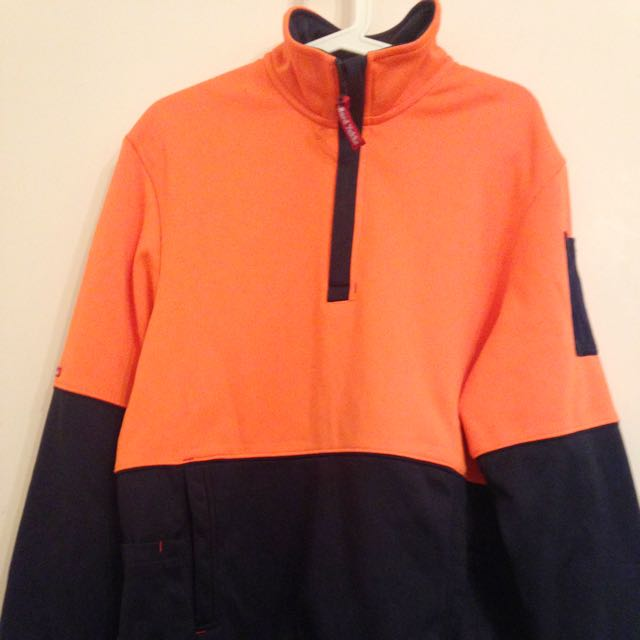 Hard Yakka Men's Hi Vis Work Wear Fleece Jacket