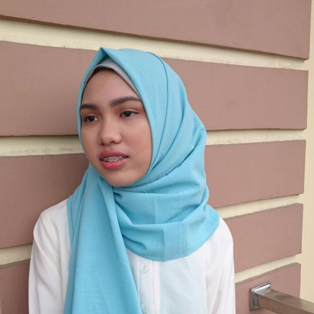 Hijab Pashmina Crepe Biru Fesyen Wanita Muslim Fashion Di Carousell