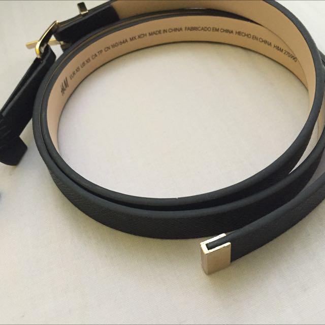 H&M Black Belt (XS)