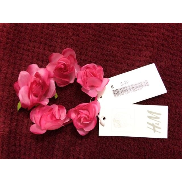 H&M Pink Rose Hair Tie
