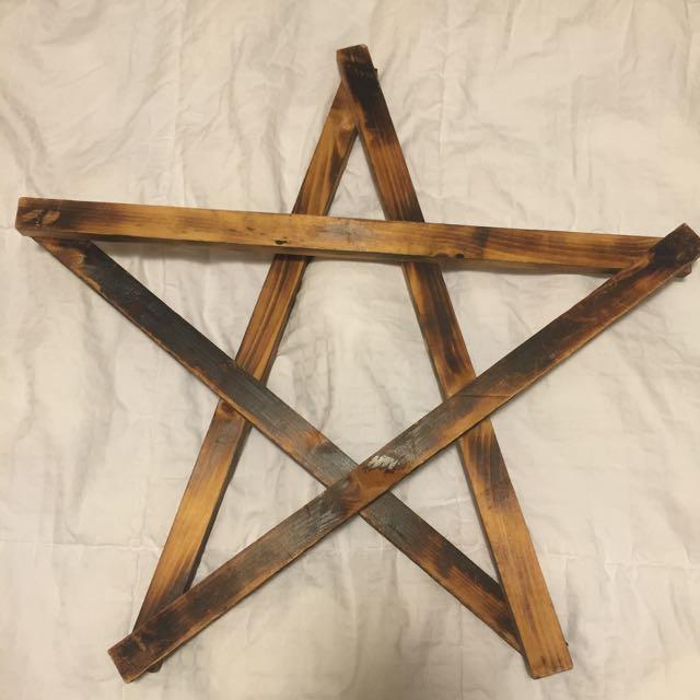 Homemade Wooden Star
