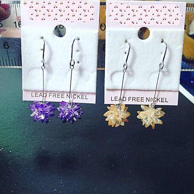 Hook Earrings With Backings