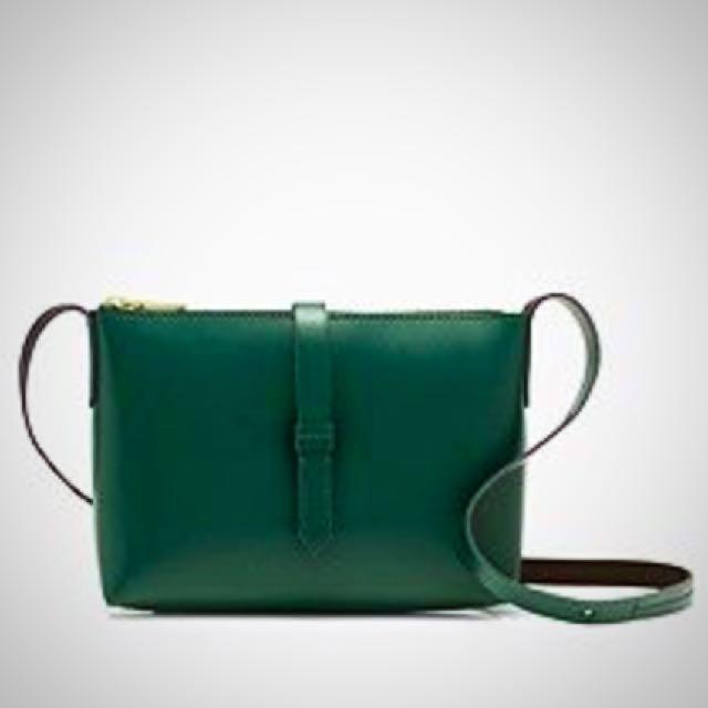 77a78ee74c J Crew Parker Cross body Bag In Brimstone Green (Emerald Green ...