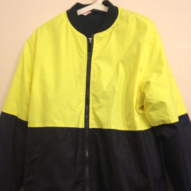 Jackeroo Mens Hi Vis Fleece Bomber Jacket