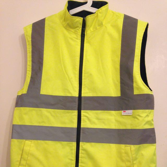 Jackeroo Mens Hi Vis Fleece Vest Jacket