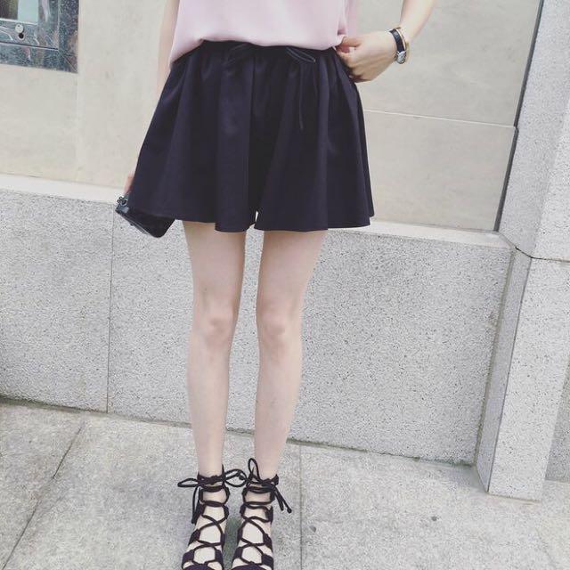 New Korean Style Ruffle High Waist Short Pants