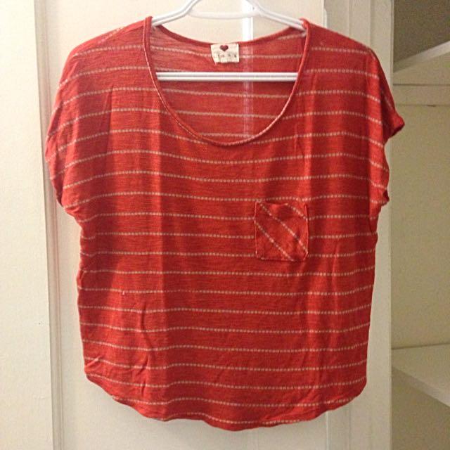 Orange Knit T-shirt