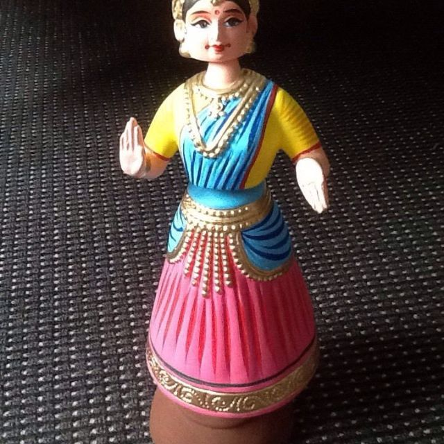 Paper Mâché Dancing Doll From India
