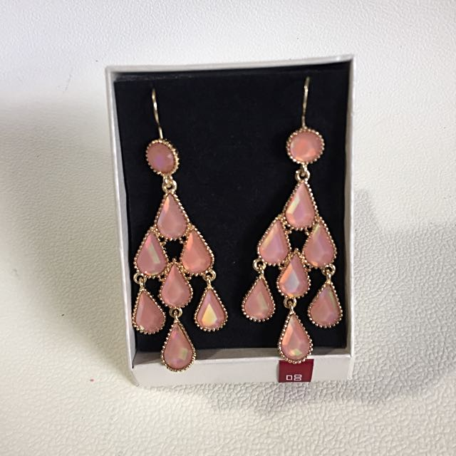 Pink Droplets Hook Earrings
