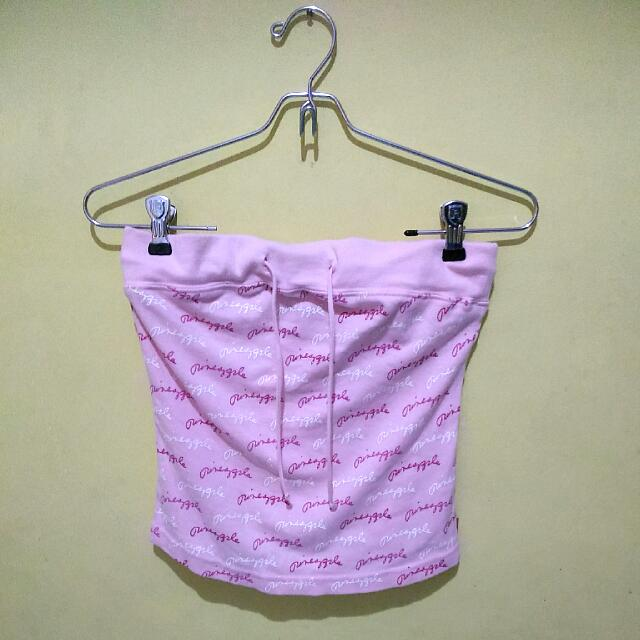 Pink Strapless Top
