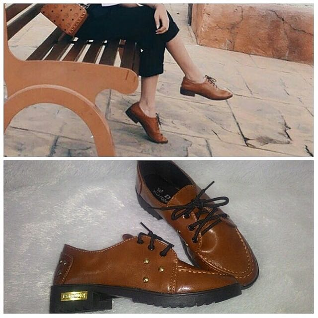 preloved brown shoes, import yaa
