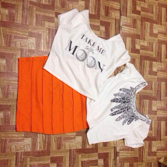 Preloved Skirt & Blouse