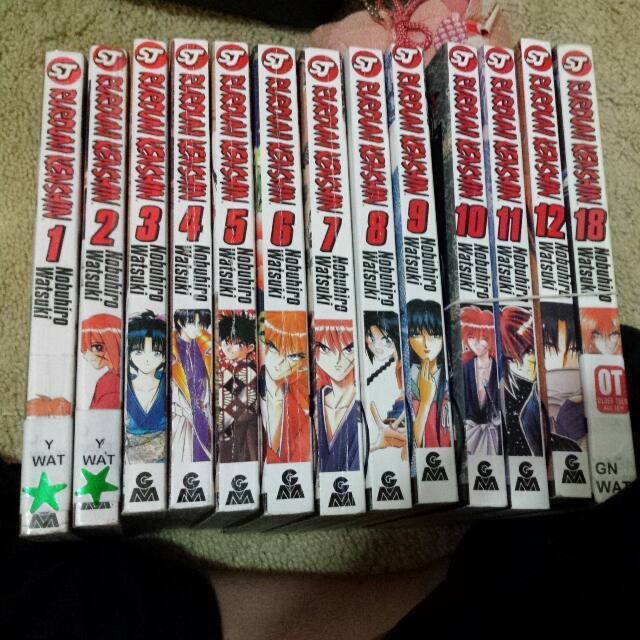 Rurouni Kenshin Manga Vol 1-12 + 18
