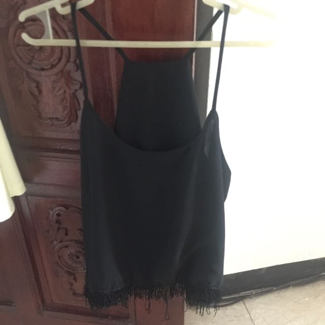 Boho Type Black Sleeveless