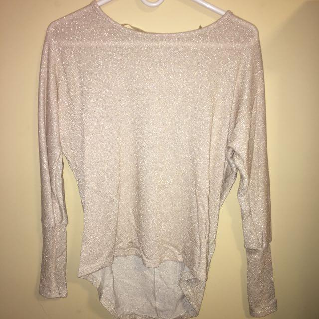 Sparkly Beige Sweater