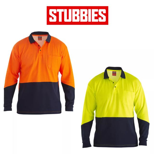 Stubbies Men's Hi Vis Polo Shirt