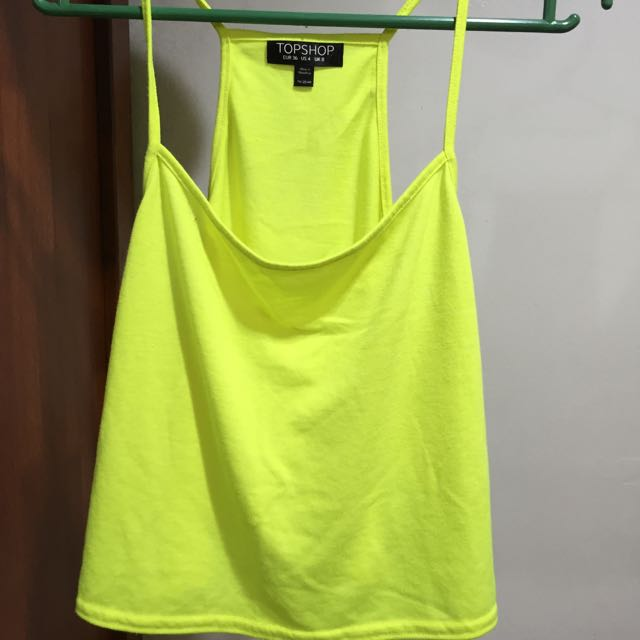 2ed6f6a816c Topshop Crop Top In Neon Yellow, Women's Fashion, Clothes on Carousell