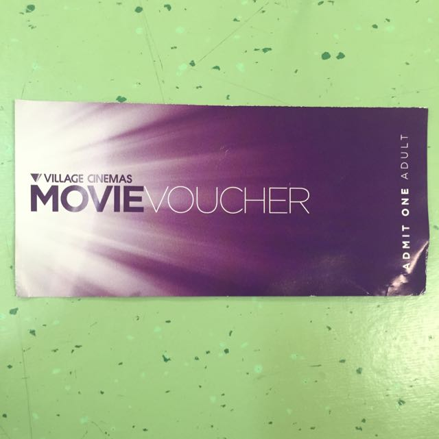 (Reserved)Village Cinemas Movie Voucher