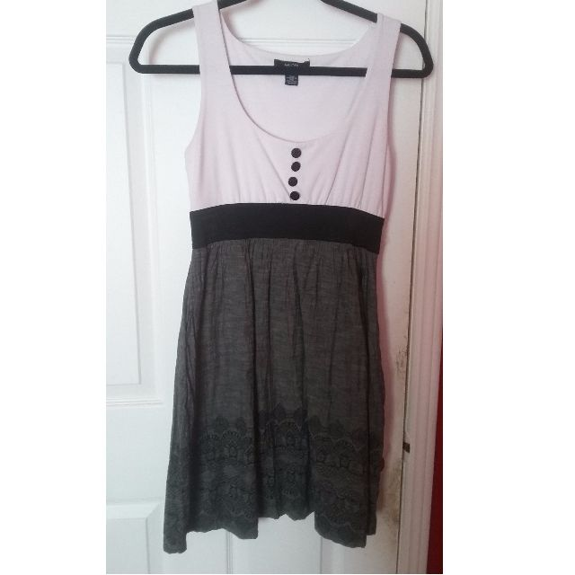White and Grey Summer or Fall Dress