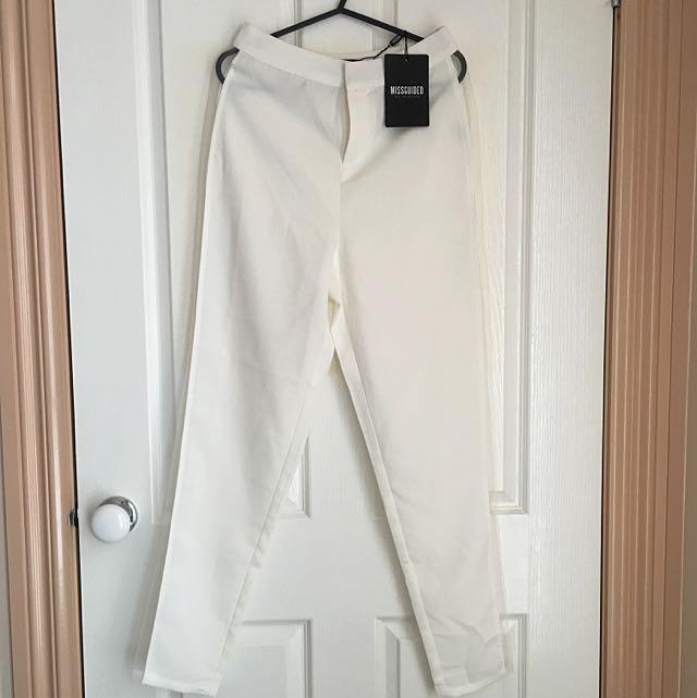 White Mesh Cigar Pants Size 6
