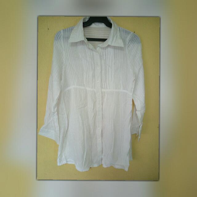 White Cotton Polo