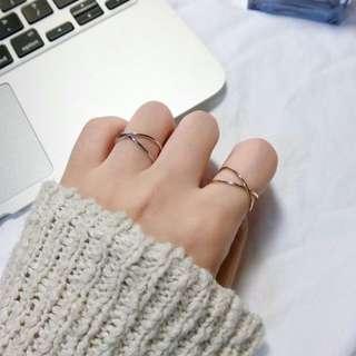 ◆特價◆other stories風格 極簡交叉戒指