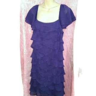 Pretty Rosa 碼荷葉邊洋裝(紫色)