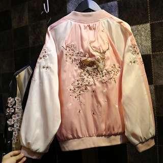 原宿風橫須賀刺繡夾克
