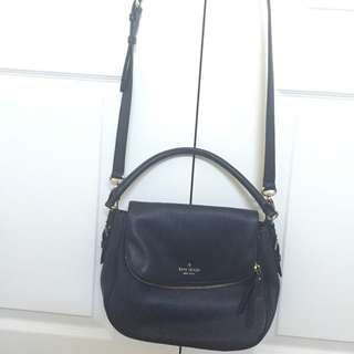 Kate Spade Cobble Hill Small Navy Blue Leather Cross Body