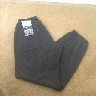 Grey Sweatpants With Mini Side Pocket