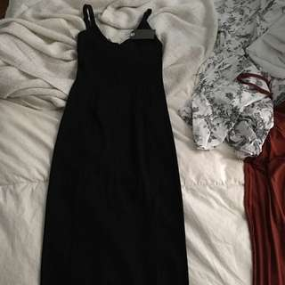 Wildfred Black Fitted Dress From Aritzia