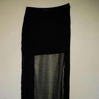 Zara Cutout Maxi Skirt