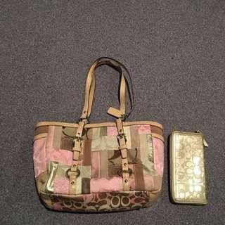 Coach Handbag And Coach Wallet