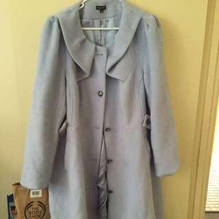 City Chic Blue Princess Coat