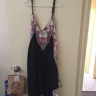 City Chic Hanky Hem Maxi Dress