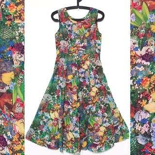 👒古著 日本帶回 鄉村洋裝 古著洋裝
