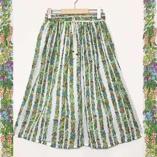💯全新 日本帶回 鄉村碎花 彈性腰圍 古著裙