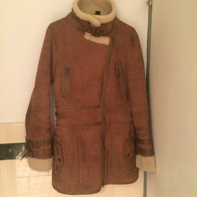 100% Sheep Genuine Leather Zara