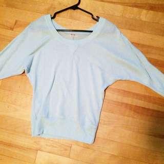 Blue Off The Shoulder Shirt