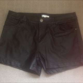 Leather High Waisted Shorts Size 12