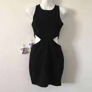 Size 6/8 Black Cut Out Dress