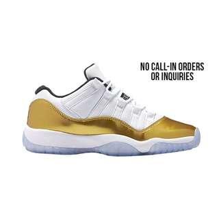 Air Jordan 11low 6y 奧運白金White/Metallic Gold