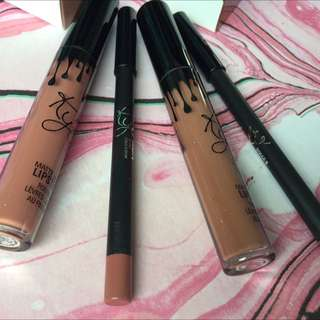 Kylie lip kits In Dolce K and Candy K