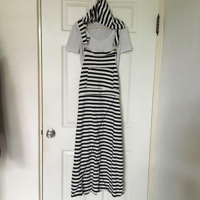 任選兩件150✨條紋吊帶長裙