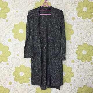 含運📦[SPAO] 混色薄針織長版罩衫