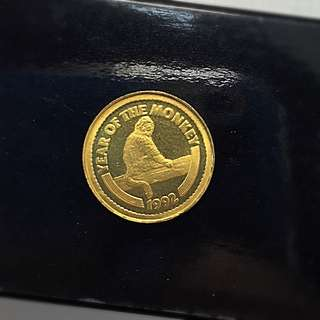 24K Monkey Gold Coin